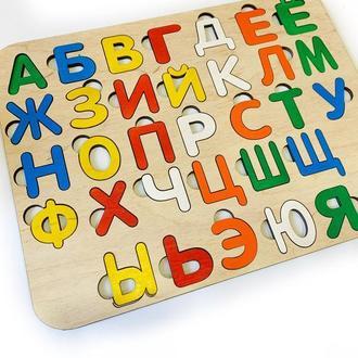 Алфавит, русский алфавит, пазл, сортер, развивающиеся игрушки