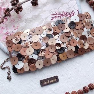 широкий браслет из кожи , коричневый браслет из кожи массивный браслет из кожи