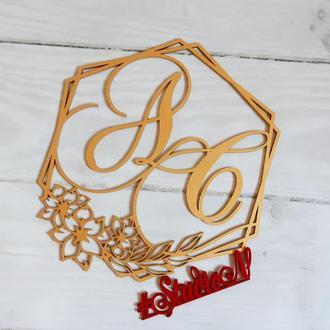 Новинка !!! Свадебная монограмма/семейный герб размер 40 х40 см