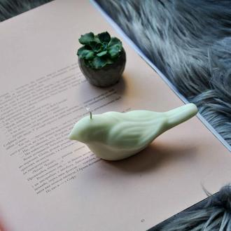 Свеча из соевого воска Птичка ароматизированная фигурка птица натуральный пасхальный декор на Пасху