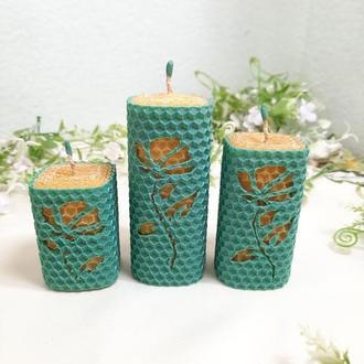 Набор свечей из натуральных материалов ручной работы. Свечи для домашнего уюта. Красивые свечи.