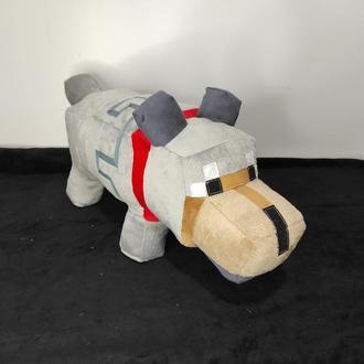 Мягкая игрушка подушка Волк из игры Майнкрафт