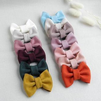 Резинки для волос с замшевыми бантиками для девочки