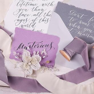 Свадебный гребень для волос с орхидеей