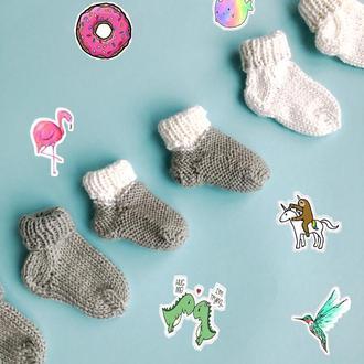 Вязанные носки для младенцев