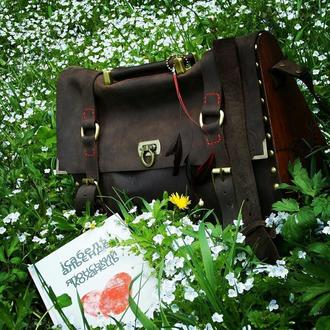Жіноча сумка з дерев'яними вставками, женская сумка, большая женская сумка