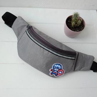 Сумка-бананка Капитан Америка ,детская поясная сумка, барсетка, нагрудная сумка 71(1)
