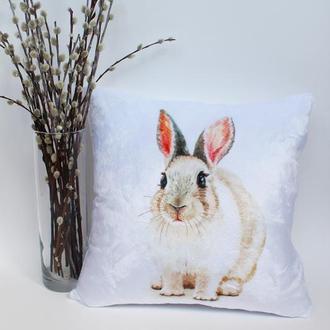 Пасхальная подушка, плюшевая подушка на пасху, подушка кролик Киев, подушка заяц, декор на Пасху
