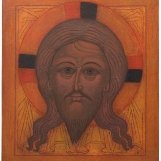 Рукописная православная икона «Спас Нерукотворный» (список с иконы начала XVI века)