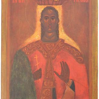 Рукописная православная икона «Святая Кириакия» (список с иконы XV века, Византия)