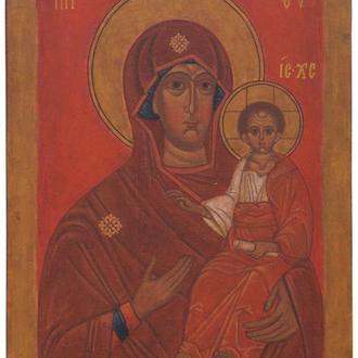 Рукописная икона «Богоматерь «Умиление» (список с иконы XIV-XV вв.)