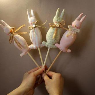 Пасхальный топпер пасхальный кролик декор в  пасхальную корзину
