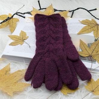 Вязаные перчатки. Женские перчатки. Элегантные перчатки ручной работы (в наличии)
