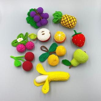Набор вязаных фруктов и ягод (10 шт)