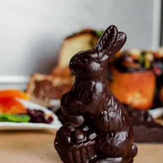 Шоколадный пасхальный Кролик с арахисово-шоколадной начинкой Afrodiziak