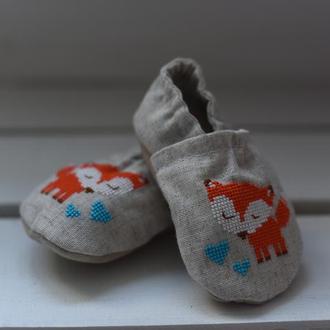 Домашнє взуття для дітей від 0 до 2х років. Розміри 17-24 ручной ... 82092383275d6