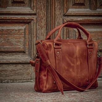 Деловая мужская сумка, Кожаная сумка под ноутбук