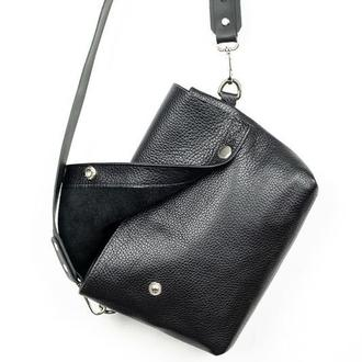 Нагрудная сумка Slim чёрная