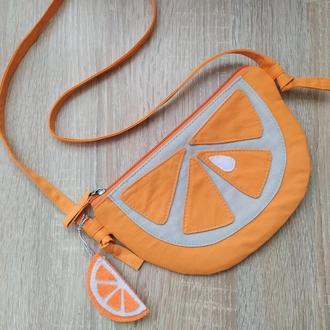 Оригинальная детская сумочка Апельсинчик