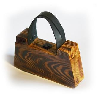 Деревянная сумочка, шкатулка для украшений