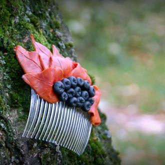 Ягодная осень (гребешок для волос)