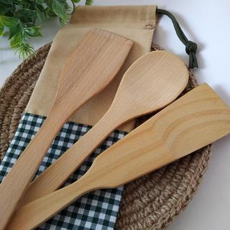 Набор деревянных лопаток, деревянные лопатки