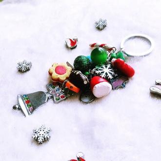 Брелок для сумки или ключей новогодний