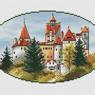 """Схема для вышивки крестом """"Румыния, замок Бран"""""""