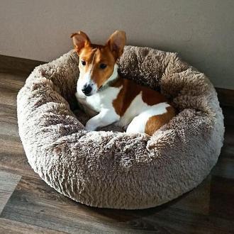Лежанка плюшка для собак и котов