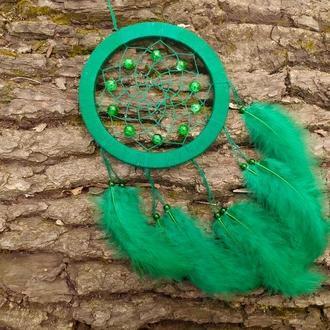Зелёный Ловец снов. Декор для дома подарок Амулет