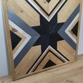 Деревянное панно  скандинавский стиль (Loft)