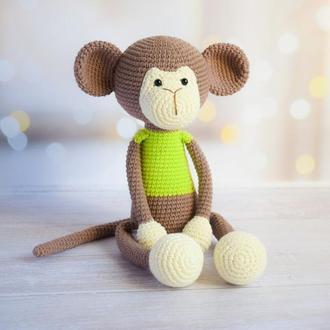 Мартышка с длинными лапками для самых маленьких деток. Первая игрушка малыша.