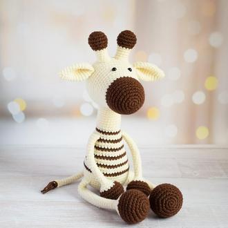 Жираф. Первая игрушка малыша. Подарок девочке. Подарок мальчику.