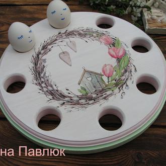 Большая 30 см Подставка для яиц и паски, Пасхальный декор, Пасхальная подставка