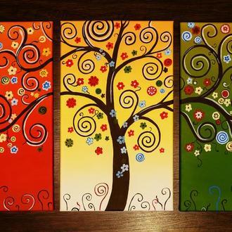 """Модульная картина """"Дерево счастья"""""""