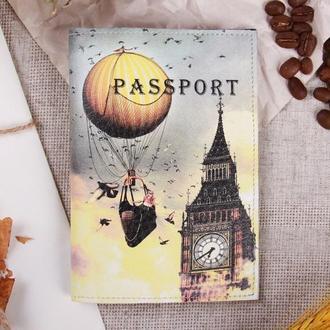 """Обложка на паспорт эко - кожа """"Биг - Бен"""""""