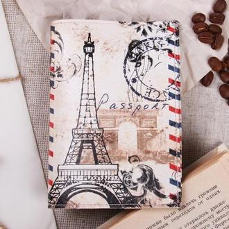 """Обложка на паспорт эко - кожа """"Париж"""""""