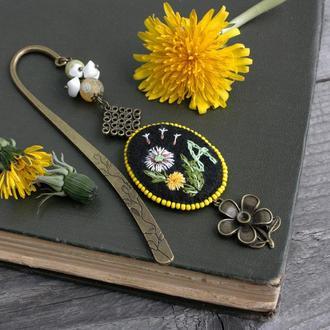 Именная закладка для книг на заказ с вашей буквой Книжная закладка с натуральными камнями