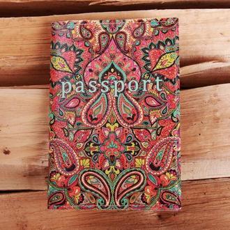 "Обложка на паспорт эко - кожа ""Огурцы"""