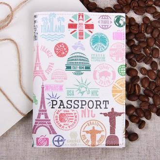 """Обложка на паспорт эко - кожа """"Печати"""""""