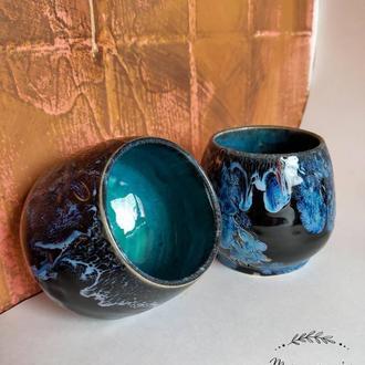 Керамический набор чайных пиал ручной работы