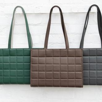 Женская сумка для ноутбука. Большая сумка на плечо. Сумка для документов. Офисная сумка из экокожи