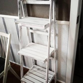 Этажерка стелаж. Деревянная подставка прованс , этажерка для декора дома , праздников и фото зон