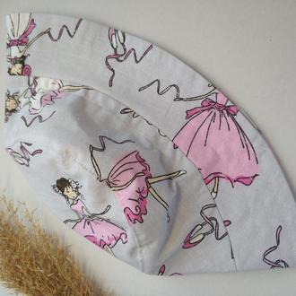 Панамка детская для девочки с балеринами