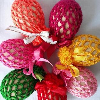 Пасхальный декор Пасхальное украшение для яиц Вязаные сеточки Пасхальные яйца