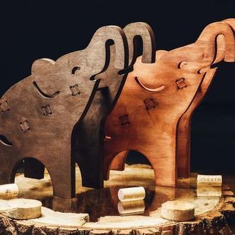 """Деревянная подставка для вина """"Слон"""""""