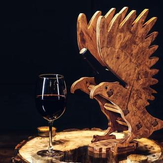 """Деревянная подставка для вина """"Орел"""""""