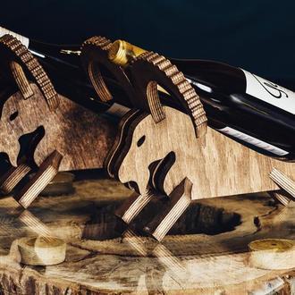 """Деревянная подставка для вина """"Баран"""""""