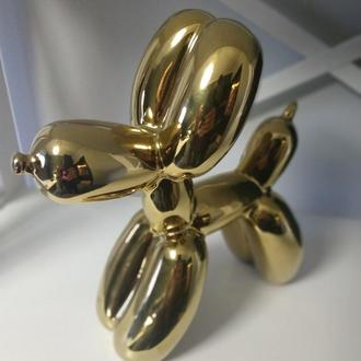 Статуэтка Собака Керамическая Дизайн Balloon Dog Джеффа Кунса h=24см Золото
