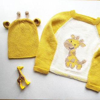 детский реглан и шапочка